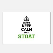 Stoat I cant keeep calm Postcards (Package of 8)