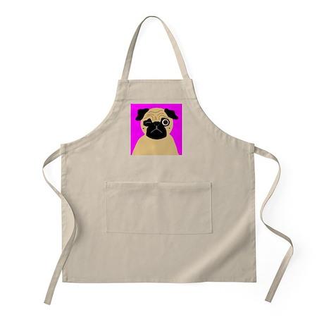 Wink, the Pug BBQ Apron