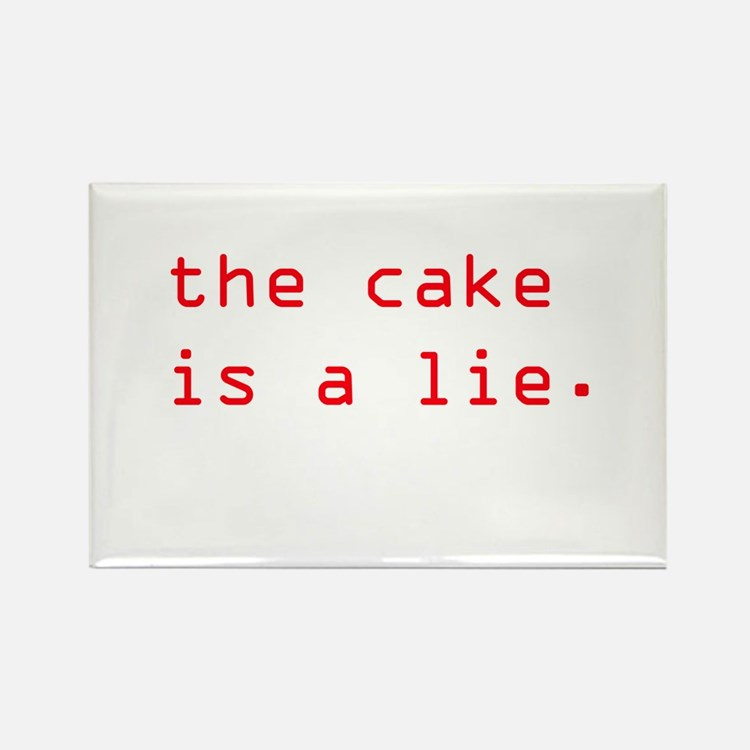 Cute Cake is a lie Rectangle Magnet