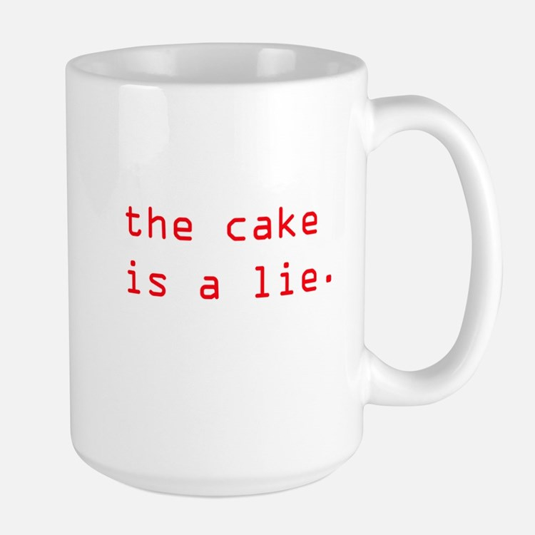 The cake is a lie coffee mugs the cake is a lie travel mugs cafepress - Two and a half men coffee mug ...