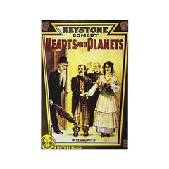 Hearts & Planets Rectangle Magnet (100 pack)