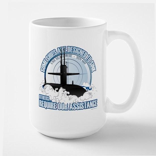 USS Seahorse - SSN 669 Large Mug