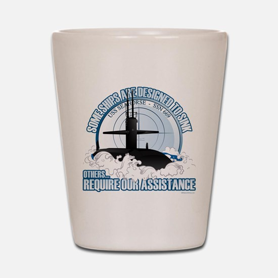 USS Seahorse - SSN 669 Shot Glass