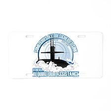 USS Seahorse - SSN 669 Aluminum License Plate
