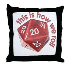 How We Roll (20's) Throw Pillow