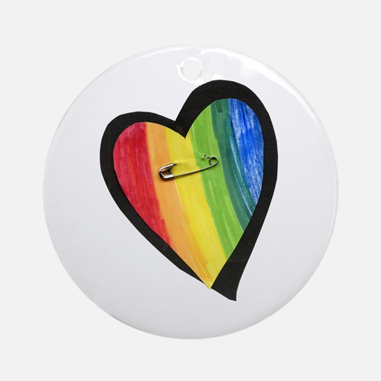 Cute Gay love Round Ornament