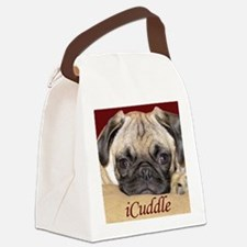 Adorable iCuddle Pug Puppy Canvas Lunch Bag
