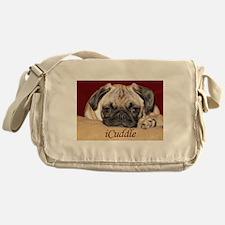Adorable iCuddle Pug Puppy Messenger Bag