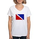 Major League Writing Women's V-Neck T-Shirt
