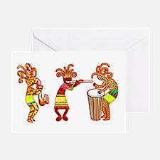 KOKOPELLI REGGAE MUSIC Greeting Card