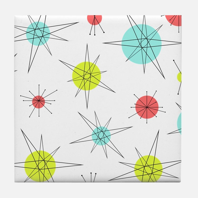 Atomic Era Art Tile Coaster