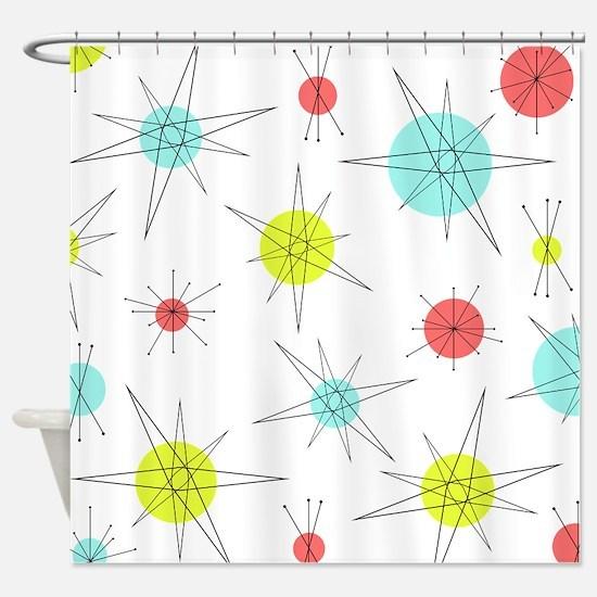 Atomic Era Art Shower Curtain