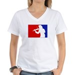 Major League Violin Women's V-Neck T-Shirt