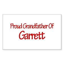 Proud Grandfather of Garrett Rectangle Decal
