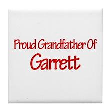 Proud Grandfather of Garrett Tile Coaster