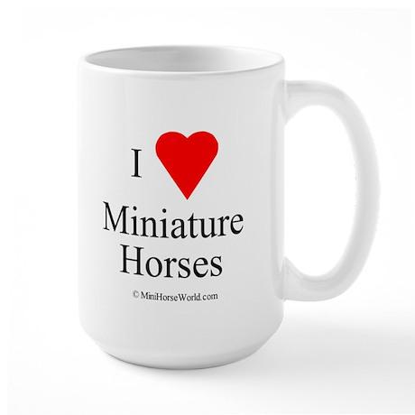 I Love Miniature Horses Large Mug