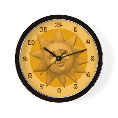 Sun Face Wall Clock