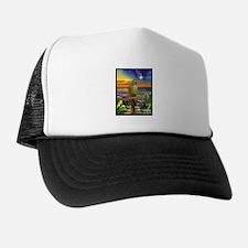 Green Cheeked Conure Star Gazer Trucker Hat