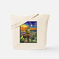 Green Cheeked Conure Star Gazer Tote Bag