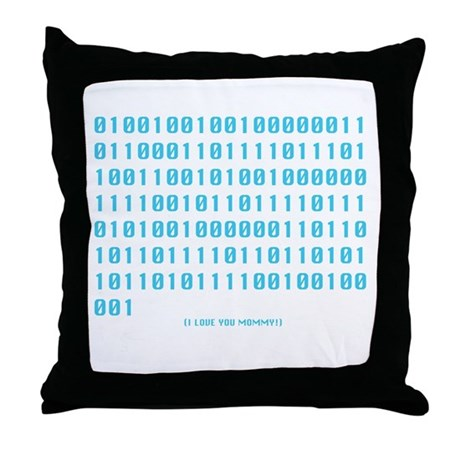 """I Love You Mommy"" in Binary - Throw Pillow"
