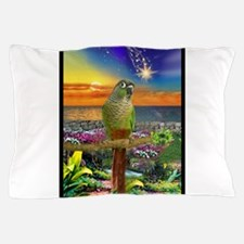 Green Cheeked Conure Star Gazer Pillow Case