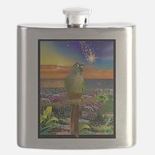 Green Cheeked Conure Star Gazer Flask