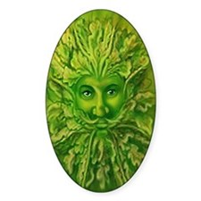 The Greenman Oval Decal
