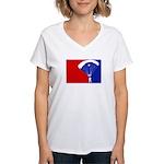 Major League Skydiving Women's V-Neck T-Shirt