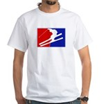 Major League Skiing White T-Shirt