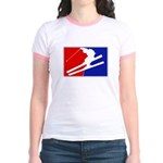 Major League Skiing  Jr. Ringer T-Shirt