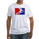 Major League Skiing  Fitted T-Shirt