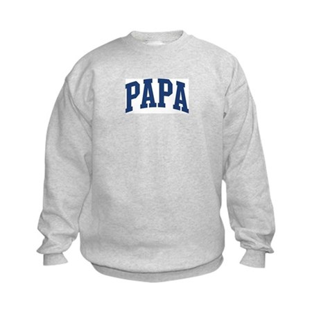 PAPA design (blue) Kids Sweatshirt