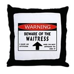 Waitress Throw Pillow