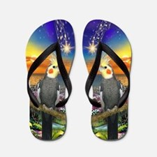 Designer Flip Flops By Robbiescreations~cockatiel