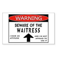 Waitress Rectangle Decal