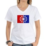 Major League Sail Women's V-Neck T-Shirt