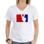 Major League Peace Women's V-Neck T-Shirt