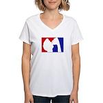 Major League Party Women's V-Neck T-Shirt