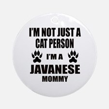 I'm a Javanese Mommy Round Ornament