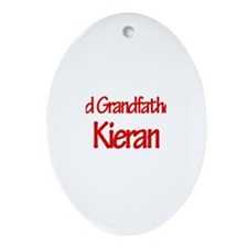 Proud Grandfather of Kieran Oval Ornament