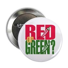 "Red or Green? 2.25"" Button (10 pack)"