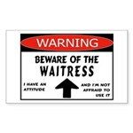 Waitress Rectangle Sticker