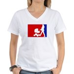 Major League Motherhood Women's V-Neck T-Shirt
