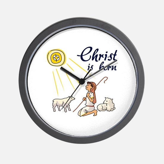 Christ Is Born Wall Clock