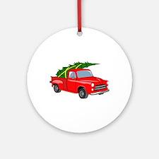 Bringing Tree Home Round Ornament