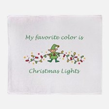 Favorite Color Is Lights Throw Blanket