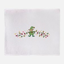 Elf And Lights Throw Blanket