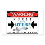 Nurse Rectangle Sticker