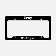 Troy MI License Plate Holder