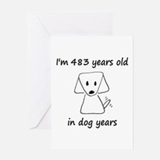 69 Dog Years 6-2 Greeting Cards